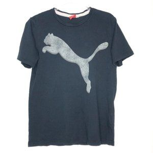 Puma (S) Men's Gray Puma Graphic Print Tee